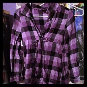 💵Purple flannel blouse